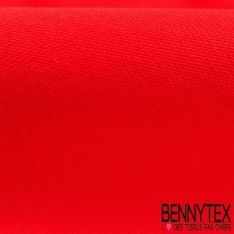 Coupon Satin de Coton Rouge Corail