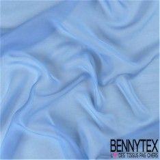 Mousseline de Soie Uni Couleur Bleu Lavande
