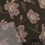 Fibranne Viscose Imprimé Motif Fleurs Fond Kaki