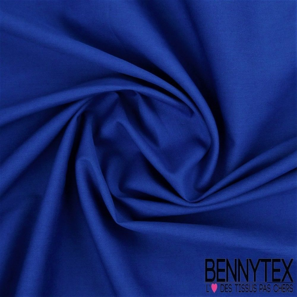 popeline coton premium gamme alix couleur bleu roi bennytex vente de tissus pas cher au m tre. Black Bedroom Furniture Sets. Home Design Ideas