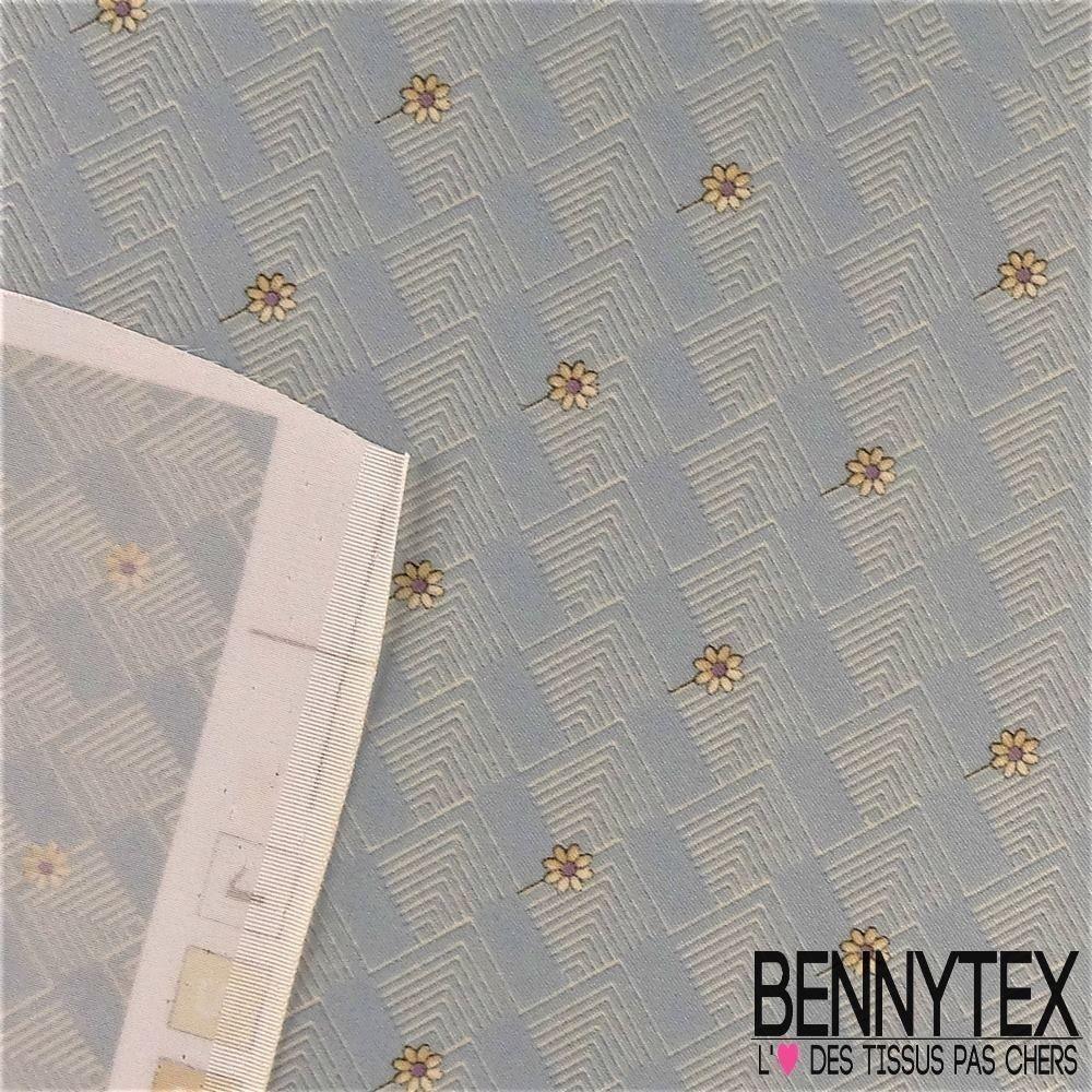 080136881f2f Carré de Soie Satin N°94   Motif Graphique Et Fleurs   Bennytex ...