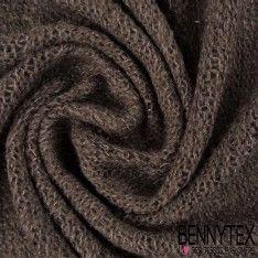 Maille Tricoté Laine Acrylique Polyester Couleur Taupe Violet