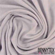 Jersey de Laine Viscose Uni Couleur Gris de lin Chiné