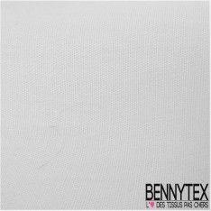 Popeline Coton Premium Couleur Blanche - Fabrication Française