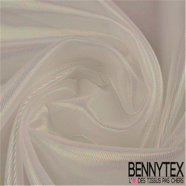 Organza Brillant Couleur Blanc irisé