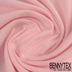 Double Maille Piquet Coton Couleur Rose Bonbon