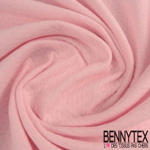 Double Maille Piqué Coton Couleur Rose Bonbon
