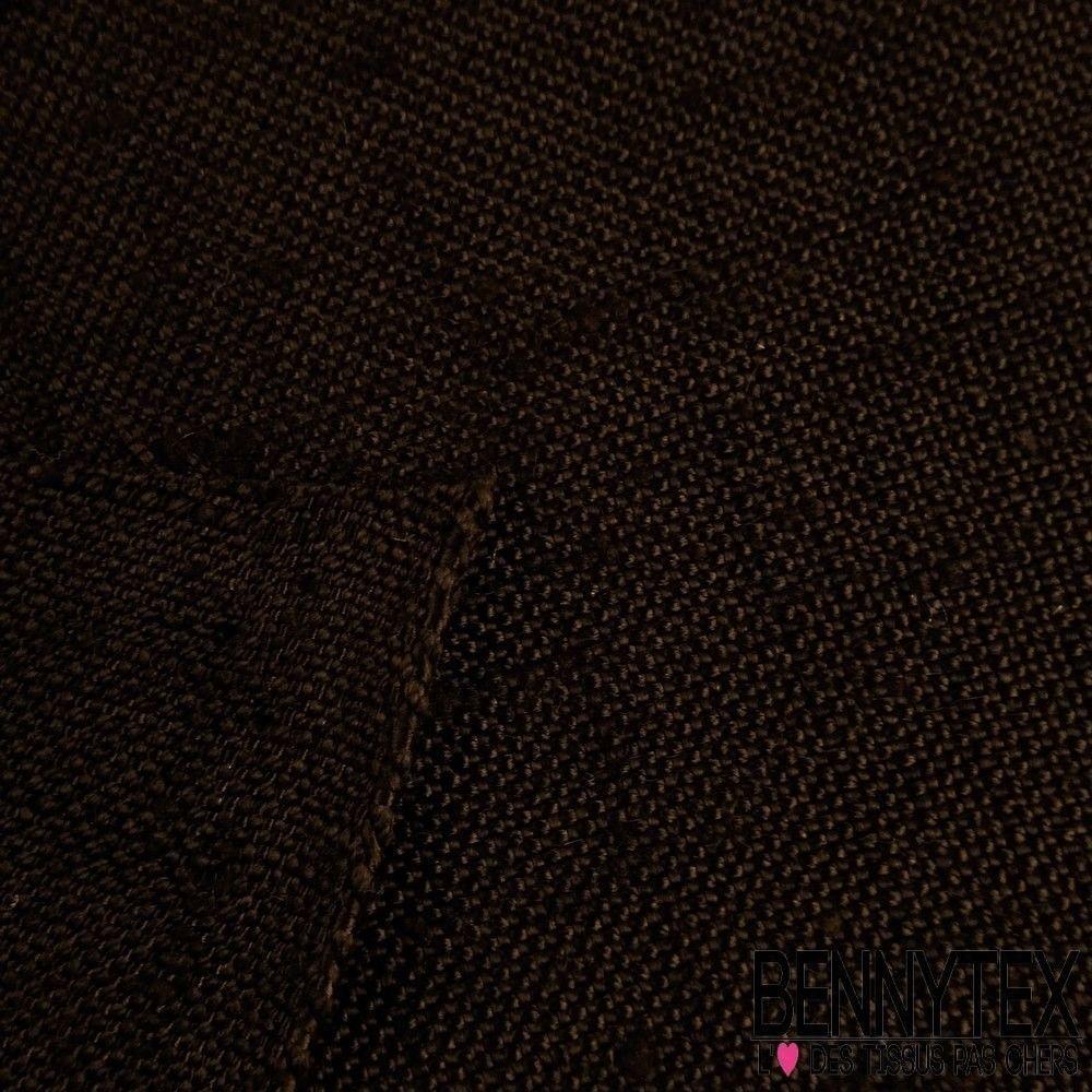 toile viscose effet soie sauvage couleur marron fonc bennytex vente de tissus pas cher au m tre. Black Bedroom Furniture Sets. Home Design Ideas