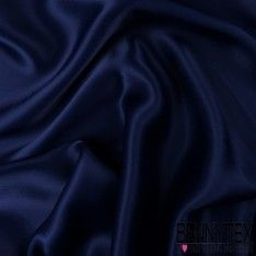 Crêpe Envers Satin Lourde Couleur Bleu Marine