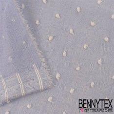 Plumetis De Coton Couleur Bleu Ciel