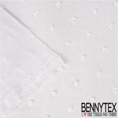 Plumetis De Coton Couleur Blanc