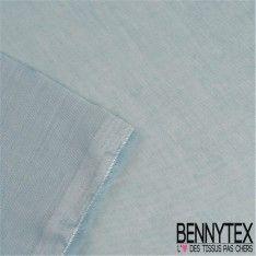 Voile de Coton Couleur Bleu Glacier