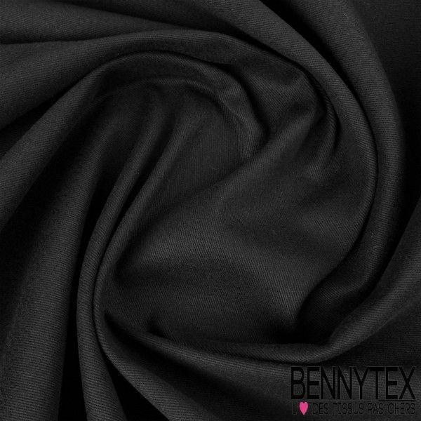 Gabardine Coton Couleur Noir