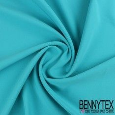 Crêpe Polyester Élasthanne Lourde Couleur Bleu Turquoise