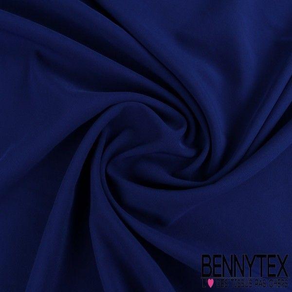 Double Crêpe Polyester Élasthanne Lourde Couleur Bleu Roi