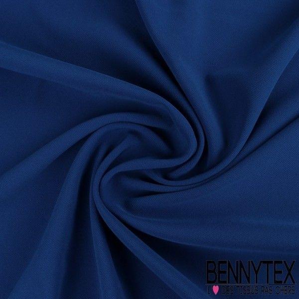 Double Crêpe Polyester Élasthanne Lourde Couleur Bleu Électrique