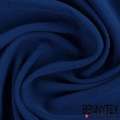 Crêpe Polyester Élasthanne Lourde Couleur Bleu Électrique