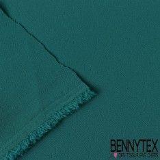 Crêpe Polyester Élasthanne Lourde Couleur Vert Émeraude