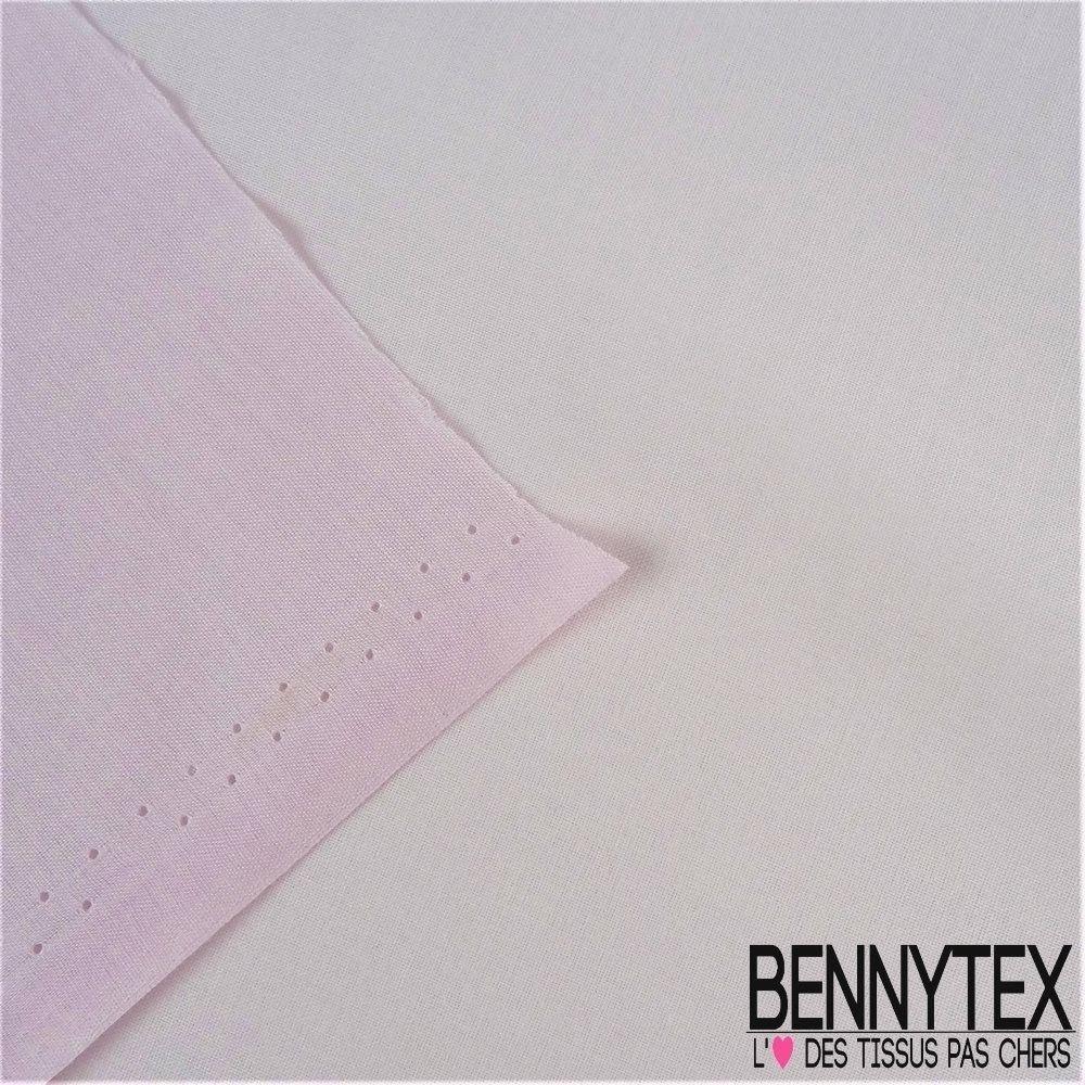 Voile de coton gamme lena couleur rose pale bennytex vente de tissus pas cher au m tre - Voile de forcage au metre ...