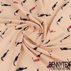 Fibranne Polyester Imprimé Toucan