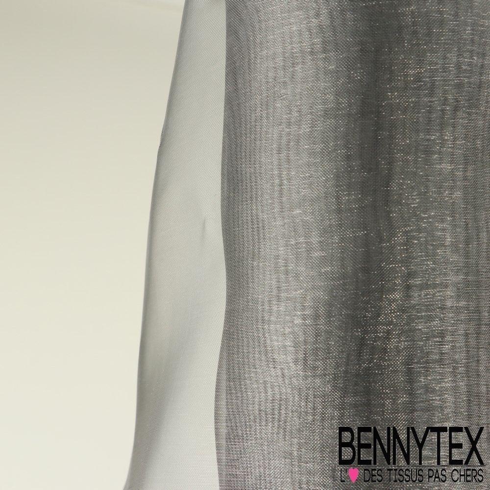 Organza Couleur Gris Anthracite  Bennytex vente de tissus pas cher au