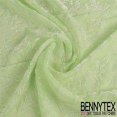 Velours de Soie Dévoré Couleur Vert