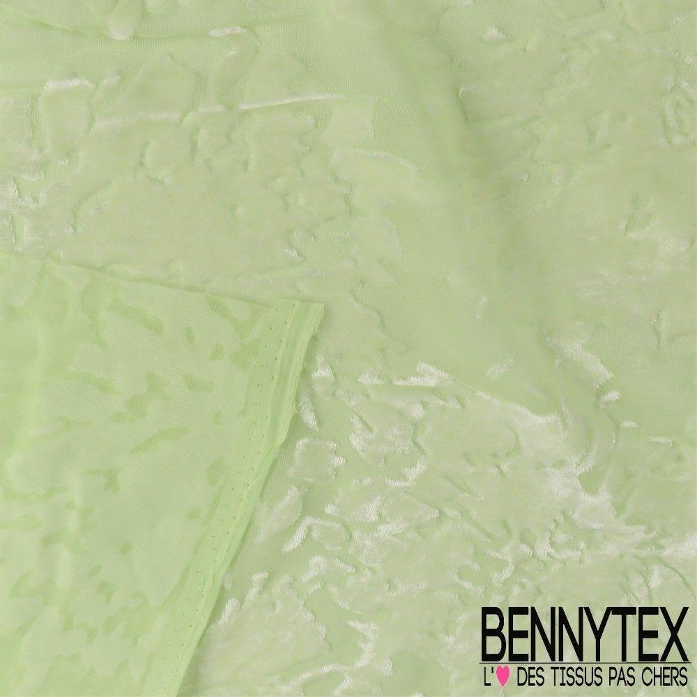 Velours de soie d vor couleur vert bennytex vente de for Velours de soie ameublement