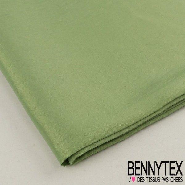 Coupon Taffetas Polyester Couleur Vert Anis
