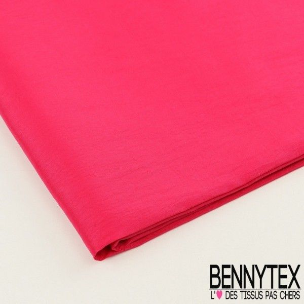 Coupon Taffetas Polyester Couleur Fushia