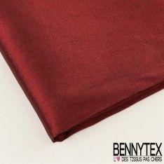 Coupon Taffetas Polyester Couleur Bordeaux