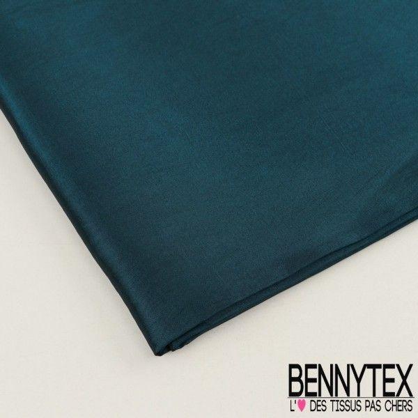 Coupon Taffetas Polyester Couleur Vert Émeraude
