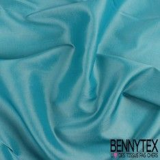 Coupon Taffetas Polyester Couleur Turquoise