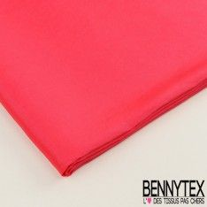 Coupon Taffetas Polyester Couleur Rouge Fushia