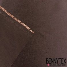 Coupon Taffetas Polyester Couleur Etain