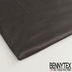 Coupon Satin de Coton Couleur Gris Anthracite