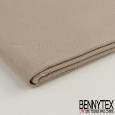 Coupon Gabardine de Coton Couleur Beige