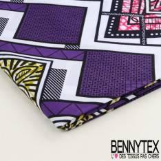 Wax Africain N°05 : Motif Dent de Scie Ton Violet