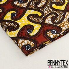 Wax Africain N°012 : Formes Graphique Ton Violet Et Blanc