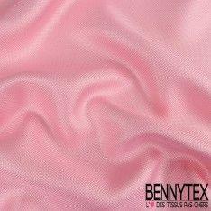 Natté de Soie Effet Carbone Teint Couleur Rose Bonbon