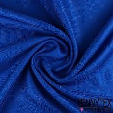 Natté de Soie Effet Carbone Teint Couleur Bleu Roi