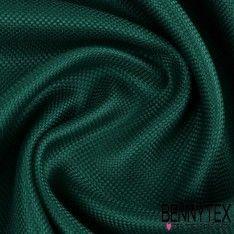 Natté de Soie Effet Carbone Teint Couleur Vert Sapin