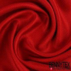 Natté de Soie Effet Carbone Teint Couleur Rouge