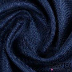 Natté de Soie Effet Carbone Teint Couleur Bleu Marine