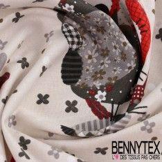 Cretonne 100 % Coton Imprimé Modèle JERRY