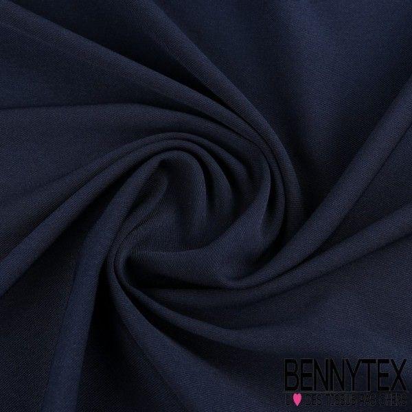 Double Crêpe Polyester Lourde Tissage Sergé Couleur Bleu Marine