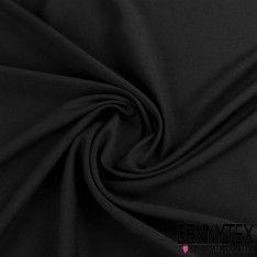 Double Crêpe Polyester Lourde Tissage Sergé Couleur Noir