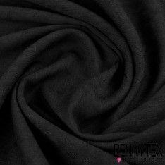 Crépon Viscose Motif Tramé Teint Couleur Noir