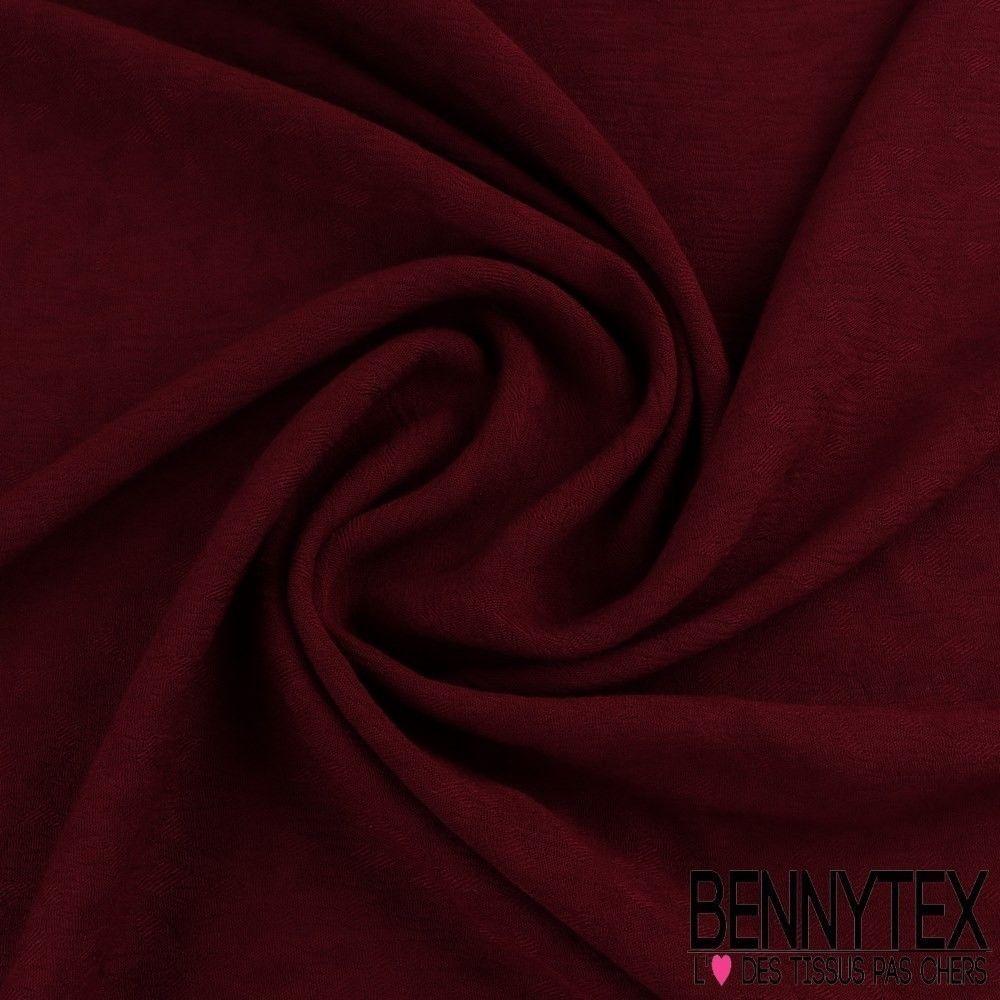 Cr pon viscose motif tram teint couleur bordeaux bennytex vente de tissus pas cher au m tre - Quelle couleur associer au bordeaux ...