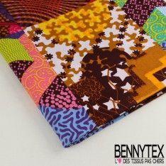 Wax Africain N°040 : Motif Effet Patchwork Couleur Diverses