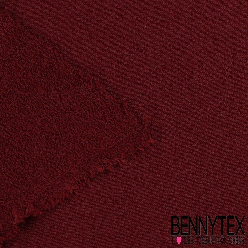 molleton bouclette gamme zoe couleur bordeaux bennytex vente de tissus pas cher au m tre. Black Bedroom Furniture Sets. Home Design Ideas